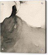 Charles James Swan Gown - Fashion Illustration Art Print Acrylic Print