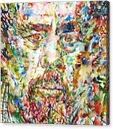 Charles Mingus Watercolor Portrait Acrylic Print