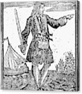 Charles Vane (c1680-1720) Acrylic Print