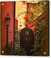 Charleston Garden Entrance Acrylic Print