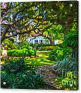 Charleston Sc Gardens Acrylic Print