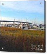 Charleston Harbor And Marsh Acrylic Print