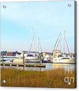 Charleston Harbor Boats Acrylic Print