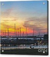 Charleston Harbor Sunset Acrylic Print