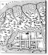 Charleston: Plan, 1704 Acrylic Print