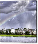 Charleston Rainbow Homes Acrylic Print