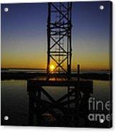 Charleston Water Sunset Acrylic Print