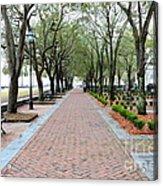 Charleston Waterfront Park Walkway Acrylic Print