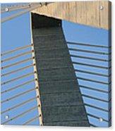 Charleston's Cable Bridge Geometric Abstract Acrylic Print