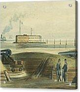 Charlestons Defense Circa 1863 Acrylic Print by Aged Pixel