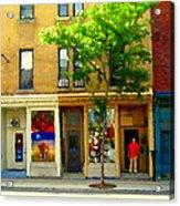 Charlevoix And Notre Dame Little Antique Shops St Henri Art Montreal Street Scene Carole Spandau Acrylic Print