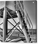 Charlevoix Lighthouse In Black And White Acrylic Print