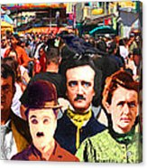 Charlie And Friends Tries To Blend In With The Crowd 5d23867 Acrylic Print