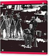 Charlie Chaplin On Location With His Camera Crew Shooting The Gold Rush 1925-2009  Acrylic Print