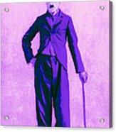 Charlie Chaplin The Tramp 20130216m40 Acrylic Print by Wingsdomain Art and Photography