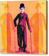 Charlie Chaplin The Tramp Three 20130216 Acrylic Print by Wingsdomain Art and Photography