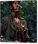 Charlie Sheen in Platoon Acrylic Print
