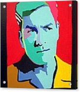 Charlie Sheen Winning Acrylic Print