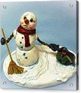 Charlie's Hat Snowman Acrylic Print