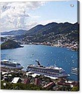 Charlotte Amalie Acrylic Print by Steve Taylor