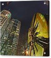 Charlotte Downtown At Night Acrylic Print