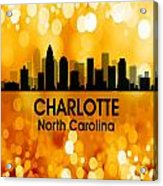 Charlotte Nc 3 Squared Acrylic Print