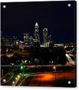 Charlotte Nc At Night Acrylic Print by Chris Flees