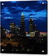 Charlotte North Carolina Panoramic Image Acrylic Print by Chris Flees