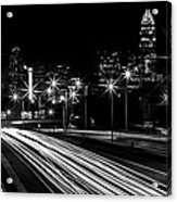Charlotte Flow B/w Acrylic Print