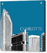 Charlotte Skyline 1 - Steel Acrylic Print