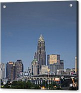 Charlotte Skyline - Clear Evening Acrylic Print