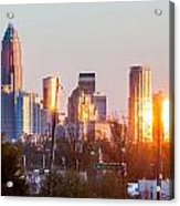 Charlotte Skyline In The Evening Before Sunset Acrylic Print