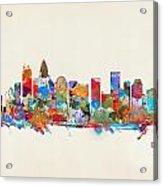 Charlotte Skyline North Carolina Acrylic Print