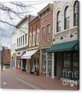 Charlottesville Virginia Downtown Mall Acrylic Print