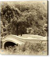 Charm Of Bow Bridge Acrylic Print