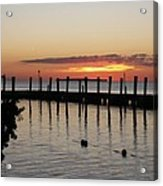 Charming Eveninglight Over Key Largo Acrylic Print