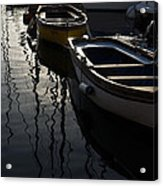 Charming Old Wooden Boats In The Harbor Acrylic Print