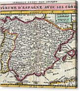 Charming Old World Map Acrylic Print