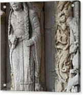 Chartres Cathedral Female Pilgrim Acrylic Print