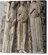 Chartres Cathedral Saints Acrylic Print