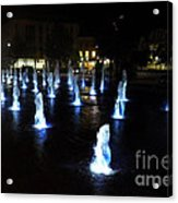 Chartres Street Fountains Acrylic Print