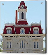 Chase County Courthouse In Kansas Acrylic Print