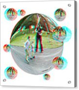 Chasing Bubbles - Red/cyan Filtered 3d Glasses Required Acrylic Print