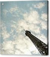 Chasing The Dream Paris Eiffel Tower Acrylic Print