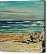 Chasing The Seagull Acrylic Print