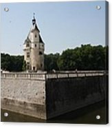 Chateau And Moat Chenonceau Acrylic Print