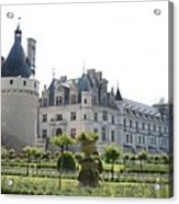 Chateau  Chenonceau And Garden Acrylic Print