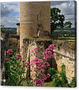 Chateau Chinon In The Loire Valley Acrylic Print