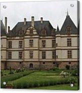 Chateau De Cormatin  And Garden - Burgundy Acrylic Print
