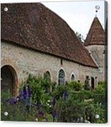 Chateau De Cormatin Kitchen Garden - Burgundy Acrylic Print